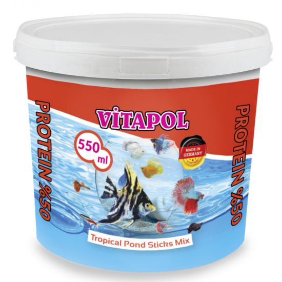 VİTAPOL TROPİCAL POND STİCKS MİX BALIK YEMİ 550 ml