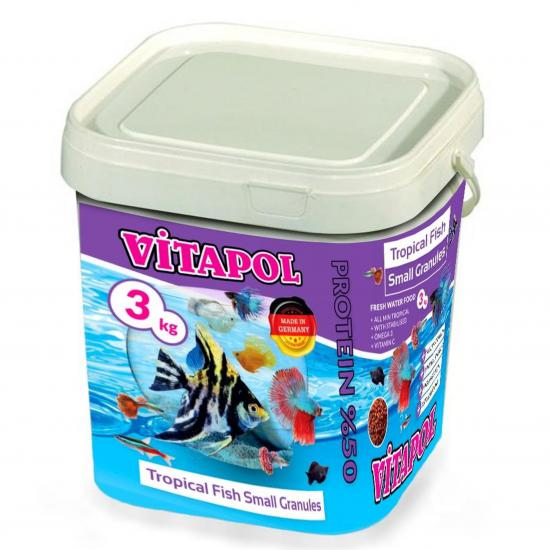 VİTAPOL TROPİCAL FİSH SMALL GRANULES BALIK YEMİ 3KG